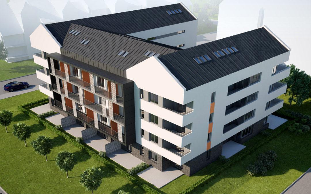 Budynek mieszkalny dla firmy BUD-MAX Tarnów, ul. Generała Tadeusza Klimeckiego